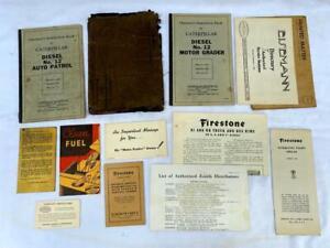 VTG 1940 Caterpillar No. 12 Auto Patrol & Motor Grader Operator's Manual & more