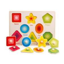 Baby Peg Puzzle Set Shape sorter Knob Wooden Puzzle Handles Toys Shapes sorter