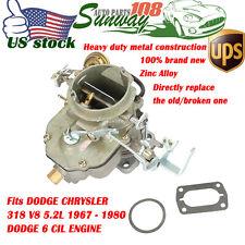 Carburetor For DODGE CHRYSLER 318 V8 5.2L BBD ENGINE 2BBL Carb W/Mounting Gasket