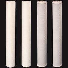 "20"" x 2.5"" (2) Sediment (2) CTO Carbon Block Water Filters 5 Micron Cartridges"