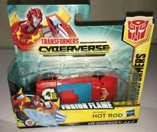 Hasbro Transformers Cyberverse Hot Rod Fusion Flame  1 Step Changer - NEW. MINTY