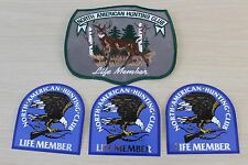 North American Hunting Club Life Member Large Patch and 3 Stickers ** NEW