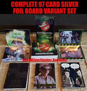 Cryptozoic Ghostbusters Complete 97 Card Silver Foil Board Variant Parallel Set