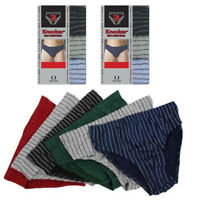 6 Pack Mens Bikinis Briefs Underwear 100% Cotton Lined Knocker Size Large 36-38