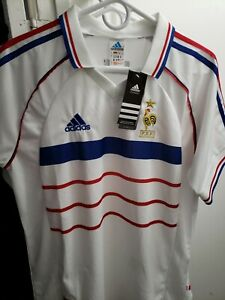 Vintage Adidas 1998 France World Cup Soccer Away Jersey White NWT Size Large