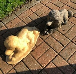 Latex Mould Only To Make Poodle Dog Garden Ornament Statue Concrete IN STOCK D
