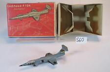 Siku Plastik 1/250 Siku Flugzeug F11a Lockheed F104 Starfighter BW Nr.2 OVP #560