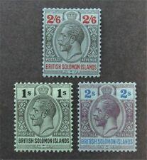 nystamps British Solomon Islands Stamp # 36-38 Mint OG H $30