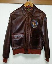 Aero Leather Jacket Paints Size 40  FLIGHT JACKET A-2 Horsehide Very Good!