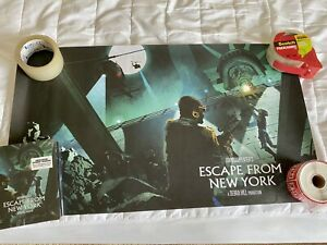 ESCAPE FROM NEW YORK Blu-Ray Steelbook - BRAND NEW/OOP/RARE + LITHOGRAPH