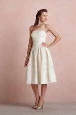 NWT Anthropologie BHLDN Hitherto Fondant Tea Wedding Dress Buttercream Size 4
