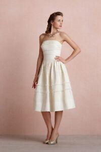 NWT Anthropologie BHLDN Hitherto Fondant Tea Wedding Dress Buttercream Size 6