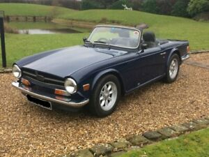 Triumph TR6 - Black Vinyl Hood With Plastic Rear Window