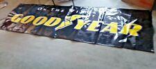 """Goodyear Tires Plastic Indoor Outdoor Vinyl Banner Sign 116"""" X 35"""" Black/Yellow"""