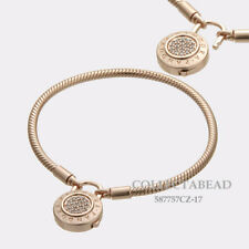 Authentic Pandora Silver Rose Signature CZ Padlock Bracelet Size 8.3 587757CZ-21