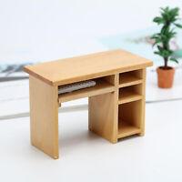 1:12 Puppenhaus Mini Computer Schreibtisch mit Maus und Tastatur Liefert
