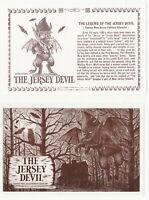 Jersey Devil Postcards Set of 2 Ed Sheetz Pine Barrens Monster Folklore