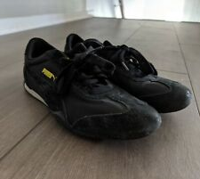 PUMA Sneakers Shoes Fast Speed Cat Women's Size 6 Black Yellow Suede Leather