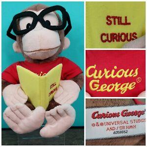 Gund Curious George plush reading Still Curious