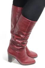 f1dfca3b5dc3ab Damenstiefel Vintage Stiefel Blogger Hipster Zipper Heels Engschaft  Bordeaux 36