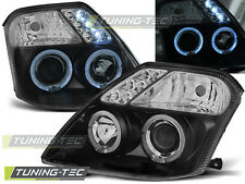 FARI ANTERIORI HEADLIGHTS CITROEN C2 09.03-10 ANGEL EYES BLACK
