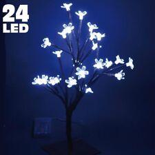 Albero Di Natale Luminoso Ciliegio Per Interno a Batterie 24 LED 40cm Bianco ICE