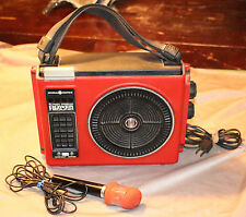 """Power Sound """"The Loud Mouth"""" Portable 8 track Player With Microphone 1970s"""