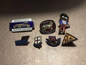 enamel badges job lot Gorgi,speedworth,scalextrix ,Y.H.A ,LONDON Salvation Army,