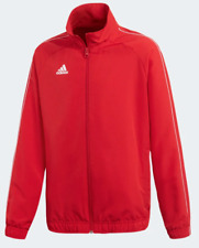 Adidas Youth Long Sleeve Soccer Core 18 Presentation Jacket Full Zip Red Size L