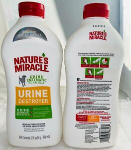 Natures Miracle Dog Urine Destroyer  (2pack) Free Shipping  New Formula