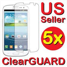 5x Clear LCD Screen Protector Samsung Galaxy S3 S III SPH-L710 SGH-T999 SGH-i747