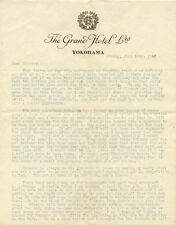 2 letters from Japan in 1920s by American re life there & anti-semitism there