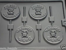 BABY SHOWER CHOCOLATE LOLLIPOP LOLLY MOULD 4 ON 1 CHOCOLATE OR SOAP