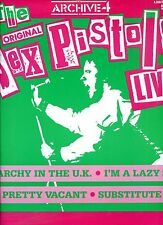 THE SEX PISTOLS live ANARCHY IN THE UK limited edition  UK 1986 12INCH 45 RPM