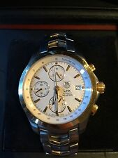 Tag Heuer Link Cronograph steel and solid gold automatic mens watch    CJF2150