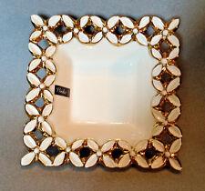 Verdici Design Italy - Square Gold And White Candy Dish - Unused With Sticker
