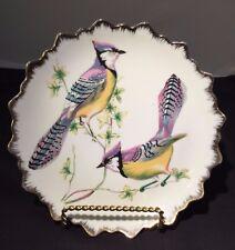"Vintage Dan Brechner & Co New York - Porcelain Tropical Birds Plate w/Gold - 7"""