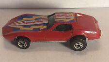 Hot Wheels Blackwall Corvette Stingray lot (x2) red & orange with ribbon tampo
