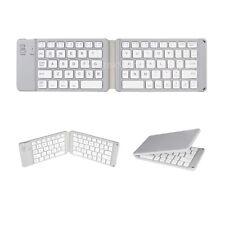 Bluetooth Folding Keyboard Foldable Bluetooth Keyboard, Rechargable, Gray
