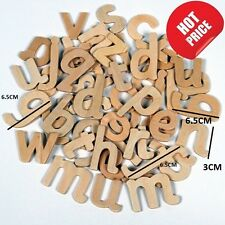 60 Craft Alphabet Wooden Lower Case Letters Educational Learning Set Font