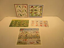 5 Stamp Sheetlets Of Birds Grenada Grenadines 1545 Ghana 1687 Malawi 598