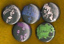 "Electric Wizard 1"" Pins Buttons Badges Set of 5 Stoner Doom Heavy Metal Sabbath"