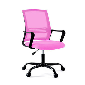 BHUTAN Height Adjustable Upholstered Mesh Swivel Computer Office Ergonomic Chair