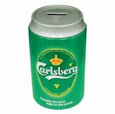 Carlsberg SAVINGS TIN SMALL Piggy Bank Can Money Saver Tin/Box , NEW