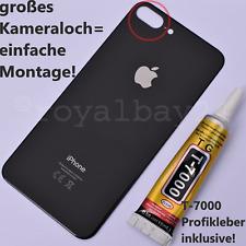 IPHONE 8 Plus Cristal Repuesto Tapa Batería Negro Blanco Oro Rojo Trasera Parte