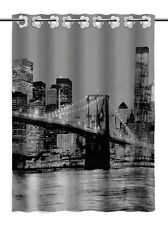Luxury Modern Bathroom Shower Curtain Fabric 100 Polyester 180x180 Brooklyn