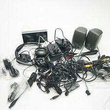 JOB LOT LEADS WIRES HEADPHONES VINTAGE CABLES CHARGERS COLLECTION