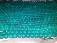 Wholesale 8MM Sea Green Frosted Glass Beads Round Spacer Loose Beads About 105pc