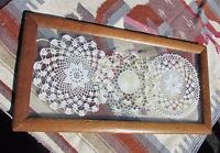 Gorgeous 3 Handmade Lace Doylies framed