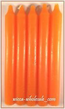 "Lot of 5 x 6"" Taper Spell Candles: ORANGE (Pagan Wicca Altar Ritual Household)"